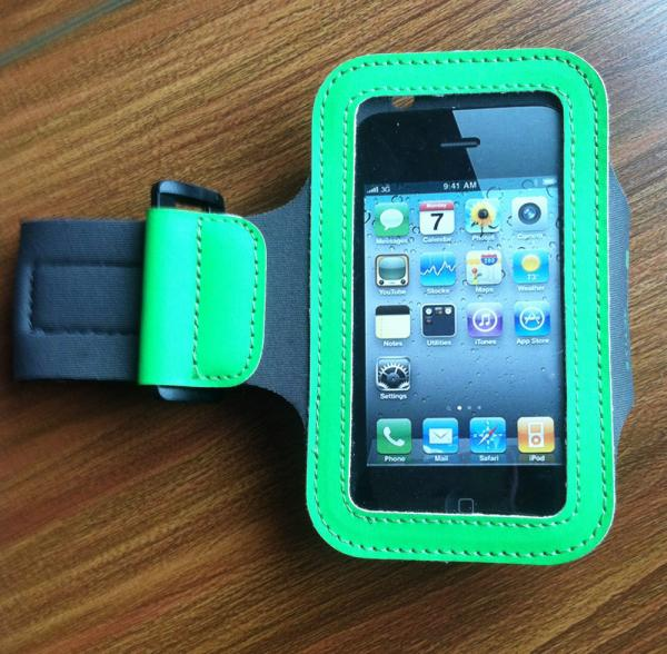 Velcro neoprene running sport gym armband case 3.5mm cycling pouch for iphone 5