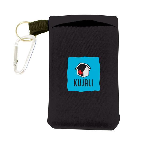 Neoprene Cell Phone Sleeve With Clip, Neoprene Portable Electronics Case With
