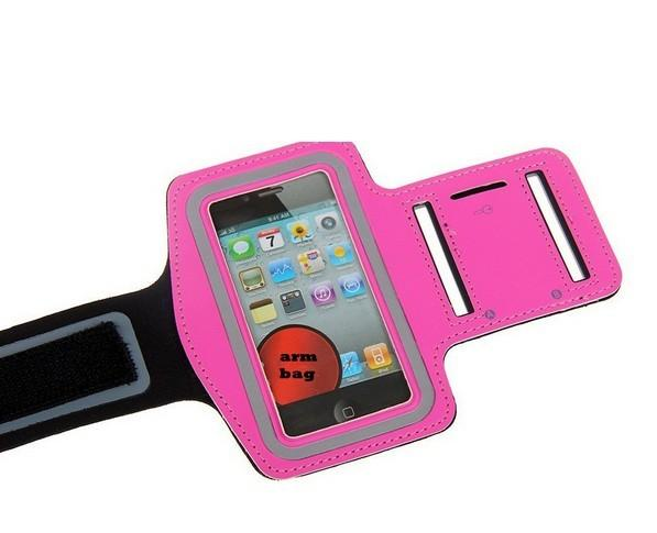 Colorful GYM velcro jogging sports neoprene armband for iphone 5 with a pocket