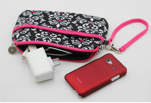 durable neoprene phone accessory sleeve / coin purse key wallets card holder bag