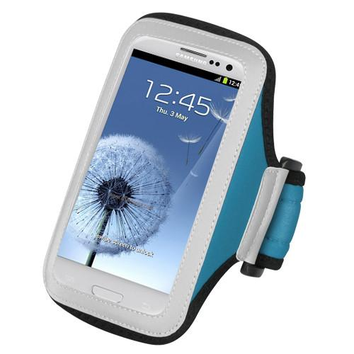 Adjustable neoprene sport armband case with pu frosted for apple iphone 5