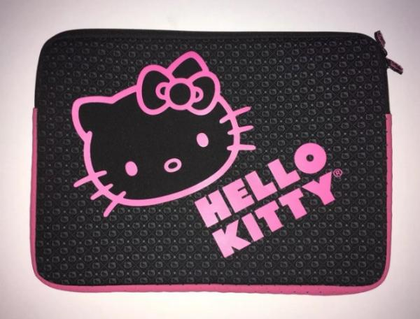Black HELLO KITTY Laptop Sleeve Notebook Computer Tablet Case Protector Padded