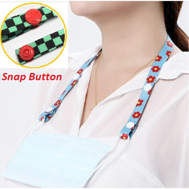 Mask Lanyard Mask Holder With Snap Button For Kids/Adults